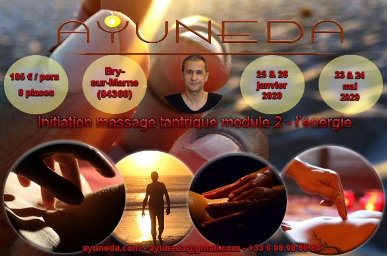 Stage d'initiation au massage tantrique Ayuneda 0608988088