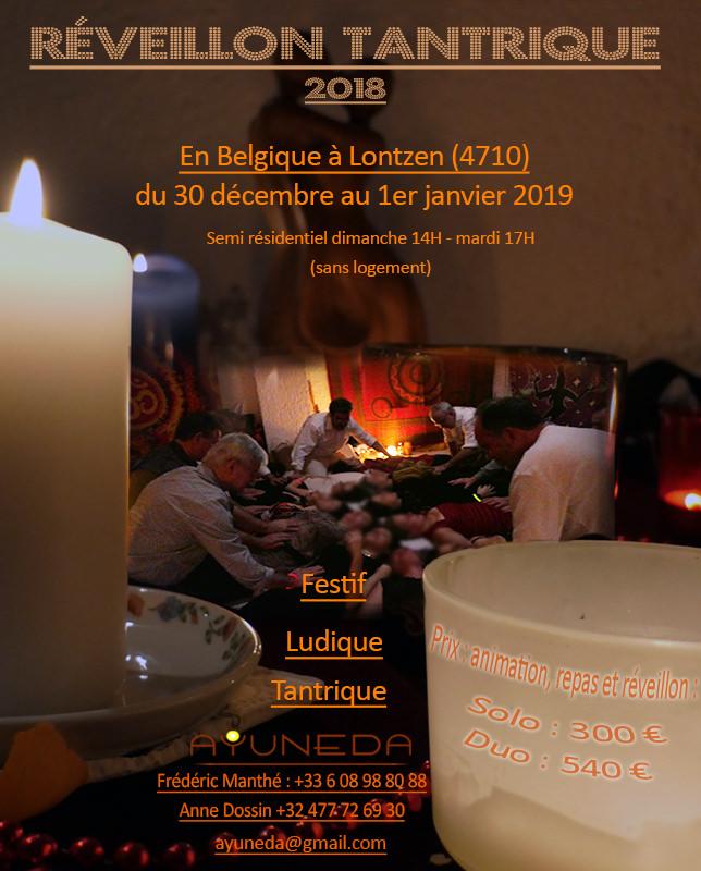stage de réveillon tantrique ayuneda en Belgique