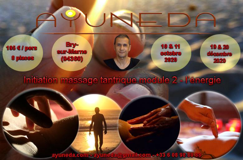 Stage d'initiation à l'énergie dans le massage tantrique Ayuneda
